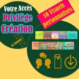 Visuel carré - Privilège Création